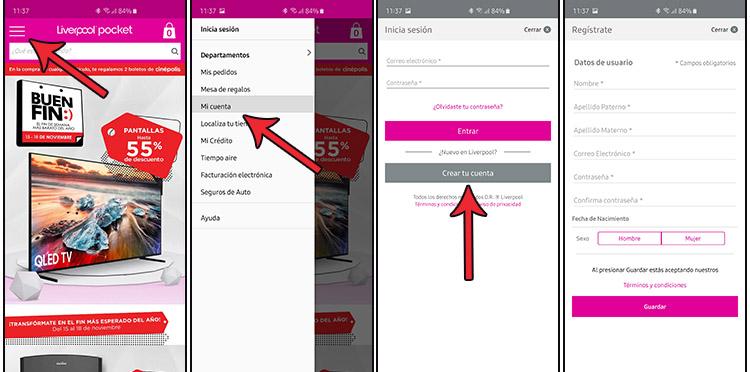 Liverppol App Registro