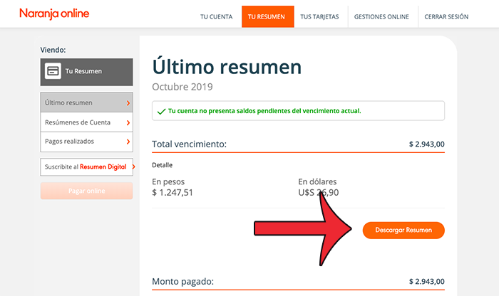 resumen online naranja acceder