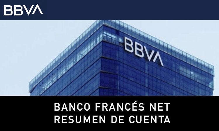 Estado de Cuenta Banco Francés Net resumen de cuenta