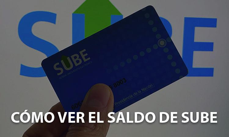Estado de Cuenta Consultar el saldo tarjeta SUBE