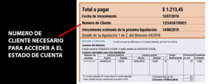 numero de cliente estado de cuenta metrogas