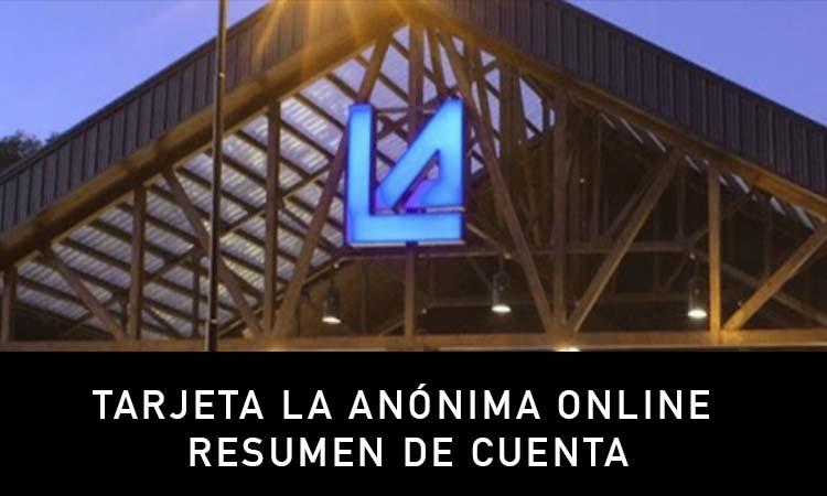 Estado de Cuenta Tarjeta La Anónima online resumen de cuenta