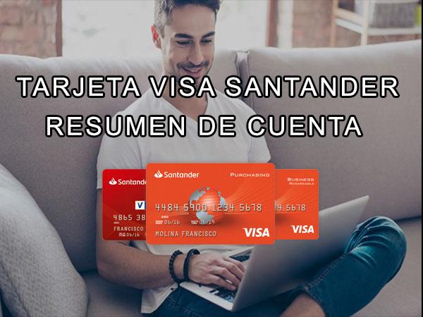 Estado de Cuenta Visa Santander Río resumen de cuenta